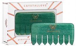Parfumuri și produse cosmetice Perie din aventurină pentru masajul scalpului - Crystallove Aventurine Comb