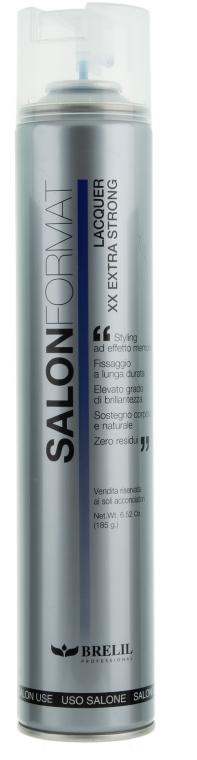 Lac de păr, fixare puternică - Brelil Salon Format Lacquer XX Extra Strong — Imagine N1
