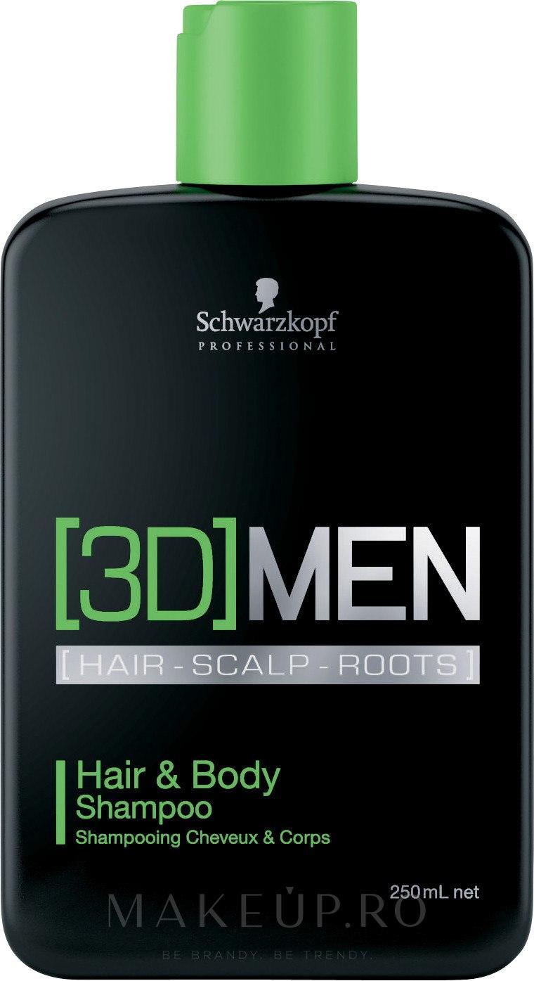 Șampon pentru păr și corp - Schwarzkopf Professional 3D Mension Hair & Body Shampoo — Imagine 250 ml