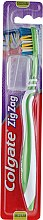 "Parfumuri și produse cosmetice Periuță de dinți ""Zigzag plus"" duritate medie №2, verde - Colgate Zig Zag Plus Medium Toothbrush"