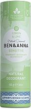 """Parfumuri și produse cosmetice Deodorant """"Lămâie și lime"""" (carton) - Ben&Anna Natural Deodorant Sensitive Lemon & Lime"""