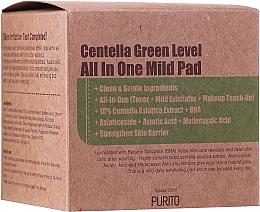 Parfumuri și produse cosmetice Pad-uri hidratante cu centella pentru curățarea pielii - Purito Centella Green Level All In One Mild Pad
