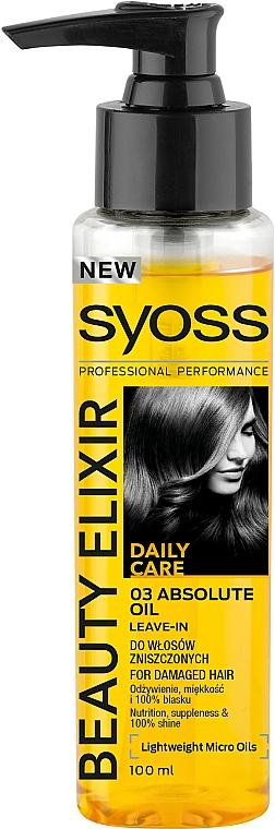 Elixir pentru păr - Syoss Beauty Elixir
