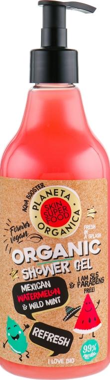 Gel de duș - Planeta Organica Refresh Skin Super Food Shower Gel Mexican Watermelon & Wild Mint