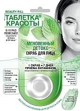 """Parfumuri și produse cosmetice Scrub pentru față """"Pilula de frumusețe. Detoxifiere instantanee"""" - FitoKosmetik Beauty Pill"""