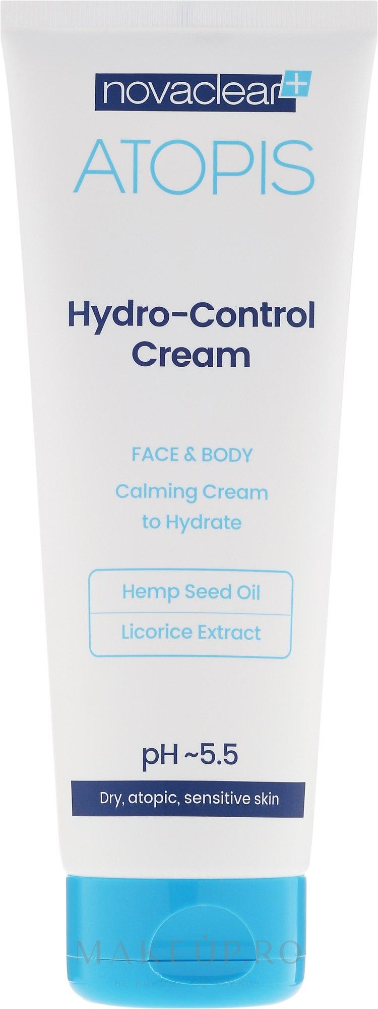 Cremă hidratantă pentru față și corp - Novaclear Atopis Hydro-Control Cream — Imagine 100 ml