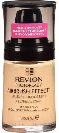Fond de ten - Revlon Photoready Airbrush Effect Foundation — Imagine 002 - Vanilla
