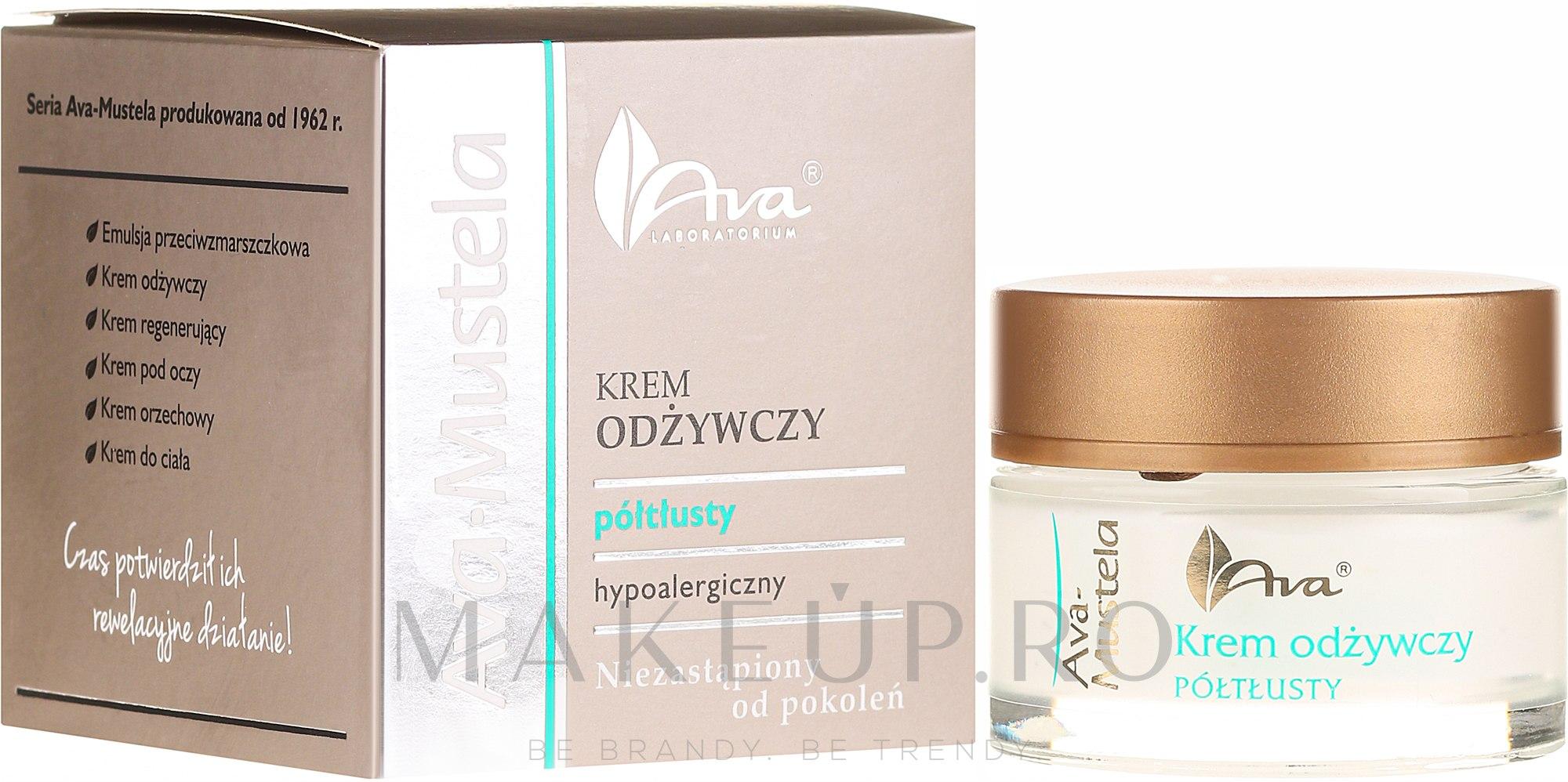 Cremă hipoalergenică pentru față - Ava Laboratorium Ava Mustela Cream — Imagine 50 ml