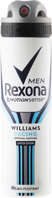 "Deodorant spray pentru bărbați ""Willams Racing"" - Rexona MotionSense Men Deodorant Spray"