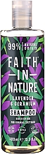 """Parfumuri și produse cosmetice Șampon pentru păr normal și uscat """"Lavandă și Geranium"""" - Faith In Nature Lavender & Geranium Shampoo"""