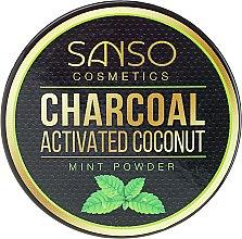 Parfumuri și produse cosmetice Praf pentru înălbirea dinților - Sanso Cosmetics Charcoal Activated Coconut Mint Powder
