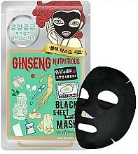 Parfumuri și produse cosmetice Mască nutritivă din țesătură cu ginseng pentru față - Dewytree Ginseng Nutritious Black Sheet Mask