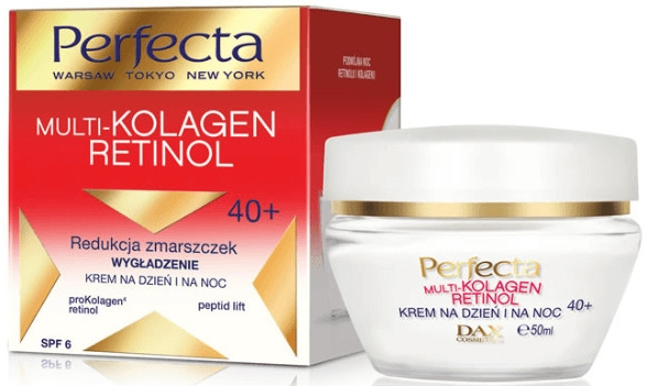 Cremă de față - Dax Cosmetics Perfecta Multi-Collagen Retinol Face Cream 40+