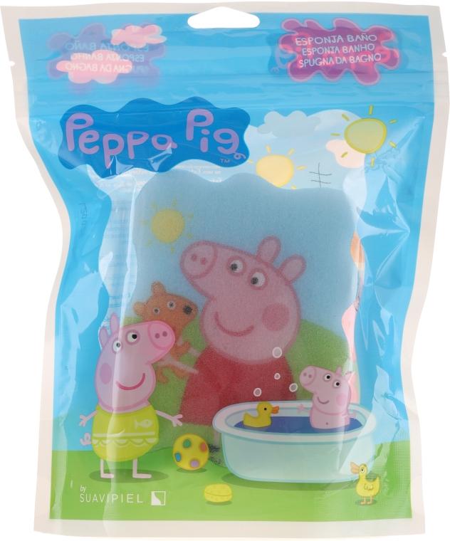 "Burete de baie ""Purcelușa Peppa"", vara, albastră - Suavipiel Peppa Pig Bath Sponge — Imagine N1"