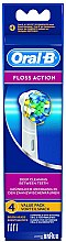 Parfumuri și produse cosmetice Duză înlocuibilă pentru periuța de dinți Floss Action EB 25, 4 buc - Oral-B