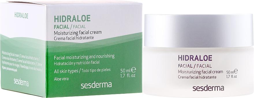 Cremă hidratantă pentru față - SesDerma Laboratories Hidraloe Moisturizing Face Cream — Imagine N1