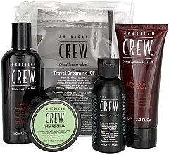 Parfumuri și produse cosmetice Set - American Crew Travel Grooming Kit (gel/100 ml + cr/50 g + sh/gel/100 ml+ sh/cr/50 ml)