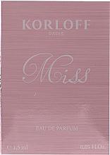 Korloff Paris Miss - Apă de parfum (tester) — Imagine N2