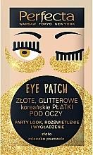 "Parfumuri și produse cosmetice Patch-uri sub ochi ""Golden shine"" - Perfecta Gold Glitter Eye Patch"