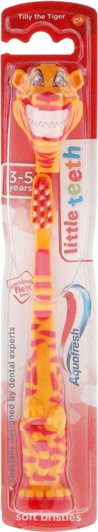 Periuță de dinți pentru copii, 3-5 ani, Tilly the Tiger - Aquafresh Little Teeth Soft — Imagine N1