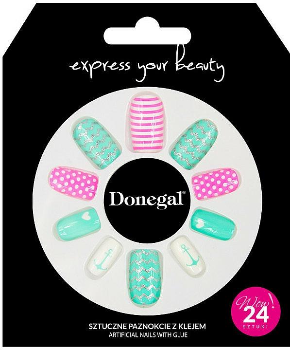 Set unghii false cu adeziv, 3055 - Donegal Express Your Beauty