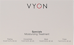 Parfumuri și produse cosmetice Set - Vyon Specials Moisturizing Treatment (f/peeling/10ml + f/conc/7ml + f/mask/15ml + f/cr/7ml)