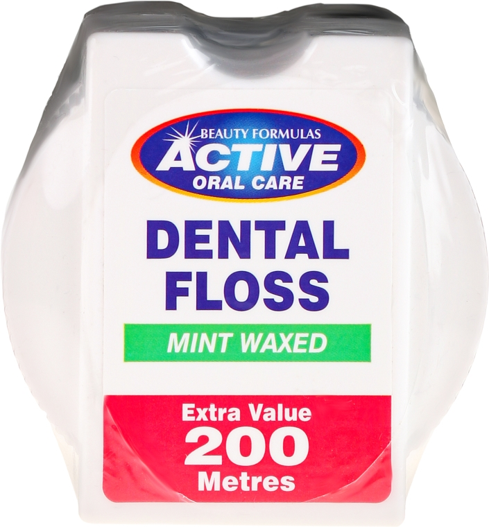 Ață dentară cu aromă de mentă - Beauty Formulas Active Oral Care Dental Floss Mint Waxed 200m