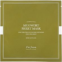 Parfumuri și produse cosmetice Mască-folie cu pelin pentru față - I'm From Mugwort Sheet Mask