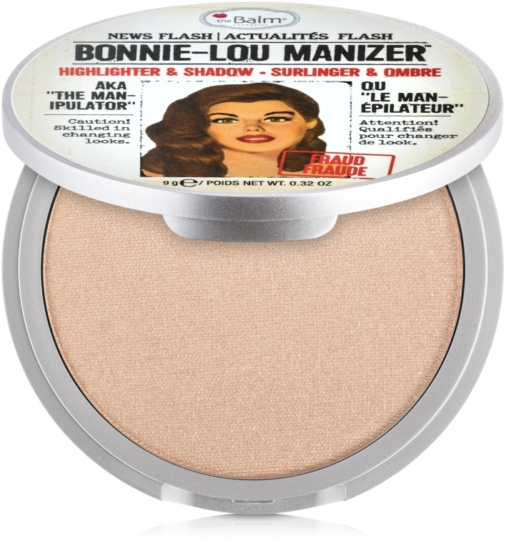 Iluminator, shimmer - theBalm Bonnie-Lou Manizer Highlighter & Shadow — Imagine N1
