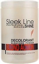 Parfumuri și produse cosmetice Pudră decolorantă pentru păr - Stapiz Sleek Line Repair & Shine Blond Action