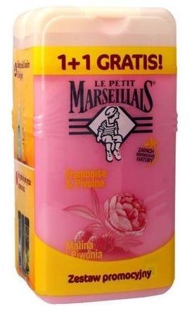 "Set ""Zmeură și Bujor"" - Le Petit Marseillais (sh/gel/250ml + sh/gel/250ml)"