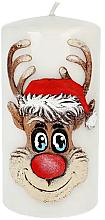 """Parfumuri și produse cosmetice Lumânare decorativă """"Rudolph"""", gri, 7x14cm - Artman Christmas Candle Rudolf"""