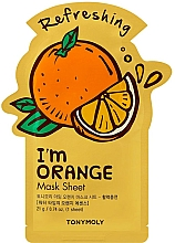 Parfumuri și produse cosmetice Mască de țesut cu extract de portocală - Tony Moly I Am Orange Mask Sheet