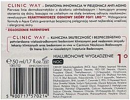 """Cremă pentru noapte """"cu efect de Hialuronic"""" - Dr Irena Eris Clinic Way 1° anti-wrinkle care — Imagine N2"""