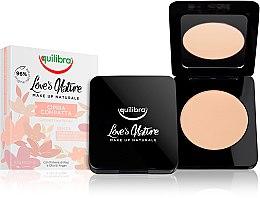 Parfumuri și produse cosmetice Pudră de față - Equilibra Love's Nature Compact Face Powder