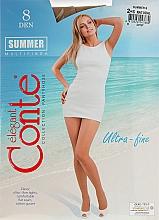 Parfumuri și produse cosmetice Colanți pentru femei «Summer» 8 Den, natural - Conte