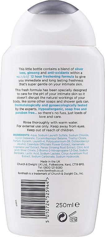 Gel deodorant cu acțiune triplă pentru igiena intimă - Femfresh Intimate Hygiene Triple Action Deodorising Wash — Imagine N2