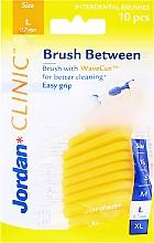Parfumuri și produse cosmetice Perii interdentare L 0.7 mm, 10 bucăți, galben - Jordan Brush Between