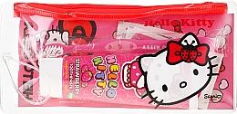 Parfumuri și produse cosmetice Set periuță și pastă de dinți pentru copii - VitalCare Hello Kitty Dental Travel Kit (teeth/brush + teeth/paste/75ml + 10 x plasters)