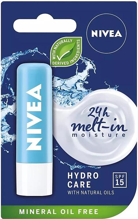 "Balsam de buze ""Aqua îngrijire"" SPF 15 - Nivea Lip Care Hydro Care Lip Balm"