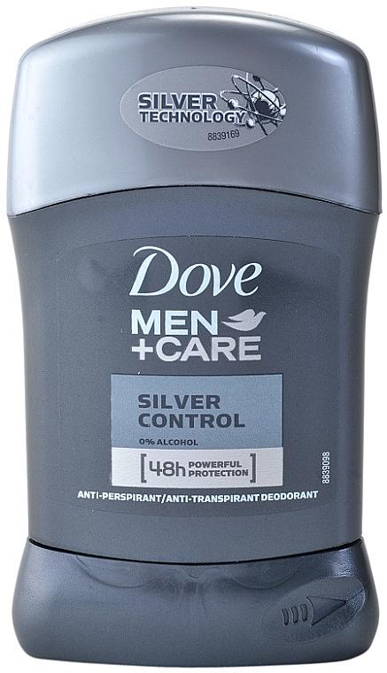 """Deodorant stick """"Puterea argintului"""" - Dove Men+ Care Silver Control Antyperspirant Stick — Imagine N1"""