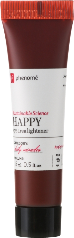 "Cremă pentru zona din jurul ochilor ""Happy"" - Phenome Happy Eye Area Lightener — Imagine N2"