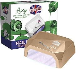 Parfumuri și produse cosmetice Lampă CCFL+LED, aurie - Ronney Professional Lucy CCFL + LED 36W (GY-LCL-021) Lamp