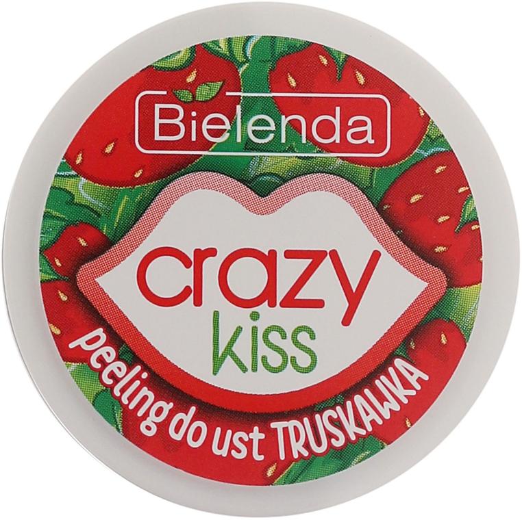 "Peeling de buze ""Căpșuni"" - Bielenda Crazy Kiss Strawberry Sugar Lip Scrub — Imagine N2"