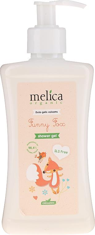 """Pastă de dinți pentru copii """"Fox"""" - Melica Organic Funny Fox Shower Gel — Imagine N1"""