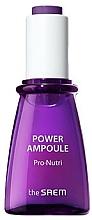 Parfumuri și produse cosmetice Ser nutritiv și hidratant pentru față, în fiole - The Saem Power Ampoule Pro-nutri