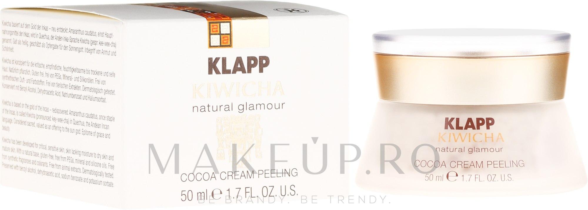 Peeling facial - Klapp Kiwicha Cocoa Cream Peeling — Imagine 50 ml
