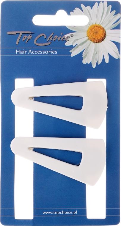 """Cleme de păr """"White Collection"""" 23583, albe, 2 buc. - Top Choice — Imagine N1"""