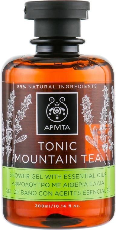 """Gel cu uleiuri esențiale pentru duș """"Ceai de munte tonifiant"""" - Apivita Tonic Shower Gel with Essential Oils — Imagine N1"""