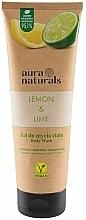 """Parfumuri și produse cosmetice Gel de duș """"Lămâie și Lime"""" - Aura Naturals Lemon & Lime Body Wash"""